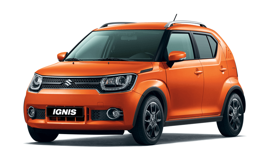 Suzuki Ignis orange Modellpalette
